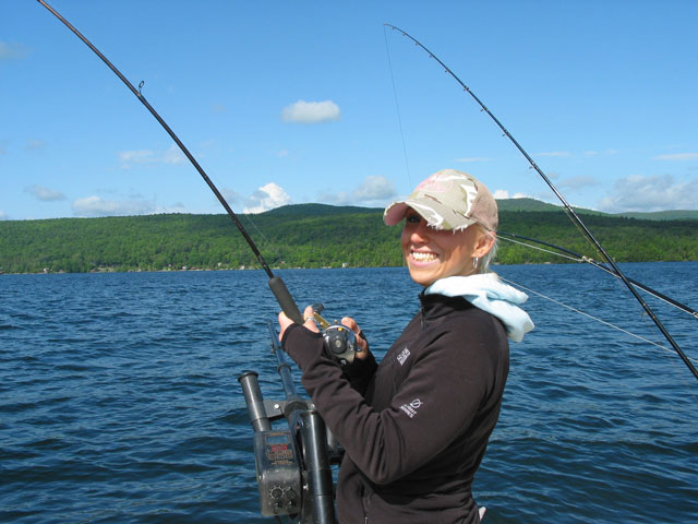Fish on for Lake george fishing charters